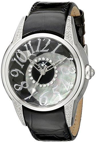 Adee Kaye Women's Oversized Swiss Watch AK5565-L Black