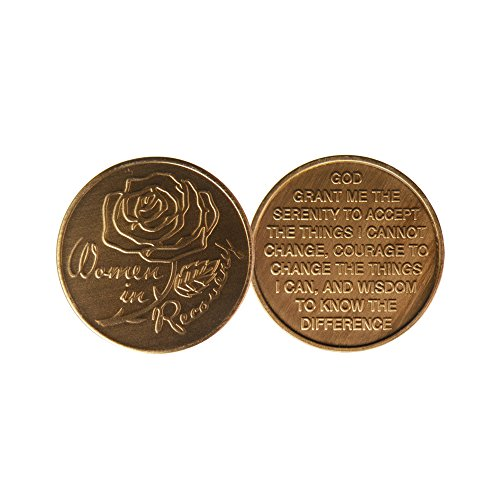 Women In Recovery - Bronze AA (Alcoholics Anonymous)-ACA-AL-ANON - Sober / Sobriety / Affirmation / Birthday / Anniversary / Desire / Recovery / Medallion / Coin / Chip