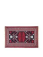 Tapis a Porter Alfombra Doubleface Musa Rojo/Marfil/Multicolor 100 x 200 cm