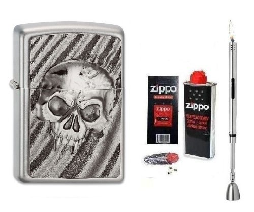 Zippo Feuerzeug Deserts Skull Emblem | Neu Spring Collection 2013 mit Zubeh&#246;r L &amp; Chrome Stabfeuerzeug + Kerzenl&#246;scher