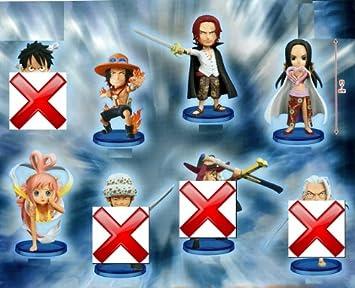 One Piece World Collectable Figure ha set of 4 Ace Shanks Hancock Shiraho city princess (japan import)