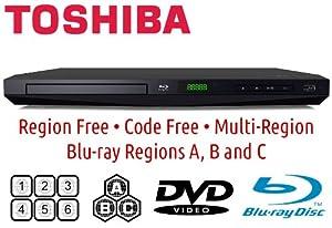 Toshiba Bdx1250rf Region Free Blu-ray Player and Dynastar Hdmi Cable 6ft Bundle