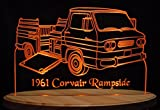 1961 Chevrolet Corvair Rampside Acrylic Lighted Edge Lit LED Car Sign / Light Up Plaque 61 Chevy