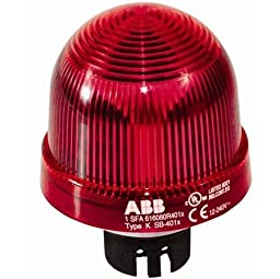 ABB KSB-401R Permanent Beacon, Red, 12-240V AC/DC