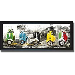 Get Your Mopeds Running by Bresso Sola Premium Framed Canvas (Ready to Hang)