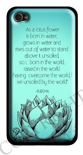 Blue Lotus and Buddha Quote iPhone 6 Case