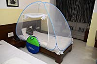 Classic Mosquito Net Classic Foldable Mosquito Net(Blue) (Size-Single Bed)