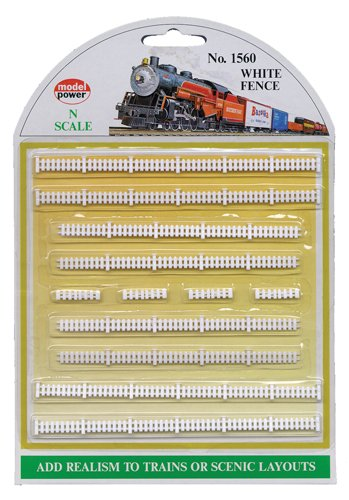 Model Power N Scale White Picket Fences - 1