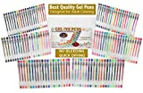 Gel-Pens-120-Top-Quality-Gel-Ink-Pen-Set-with-Compact-PVC-Case-from-CulaLuva-Assorted-Colored-Pens-Colorful-Pen-Set-for-Adult-Coloring-Books-Journaling