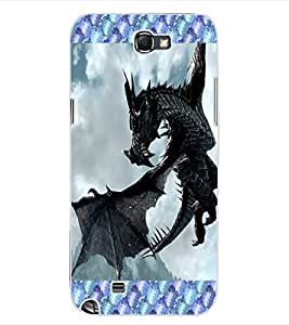 ColourCraft Flying Dragon Design Back Case Cover for SAMSUNG GALAXY NOTE 2 N7100