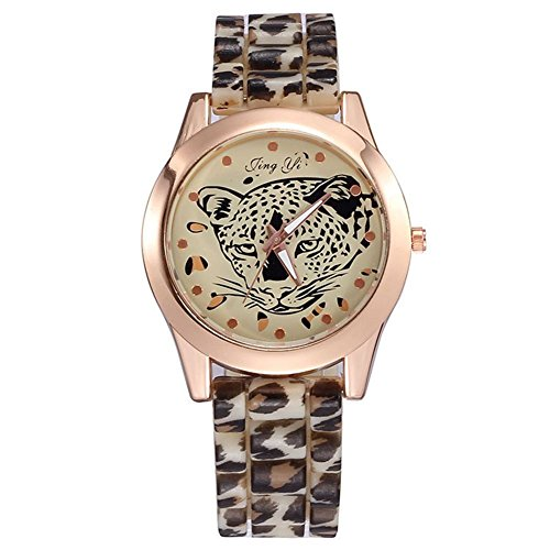Explosion Models Korean Fashion Personality Light Leopard Print Diamond Girl Watch Gift Watch