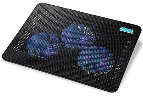 Buy Discount Tenswall 17 inch 3 Fan(110mm) Laptop Cooling Pad with USB for MacBook Pro/ HP Laptop/ B...
