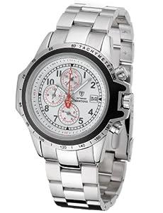 Amazon.com: Detomaso Mantova White Dial Chronograph Men's Quartz Watch