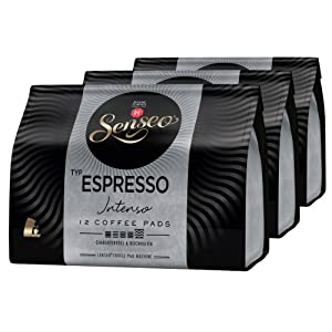 Choose Senseo Espresso Intenso, Strong & Flavourful, Espresso, Coffee Pods, 3 x 12 Pods from Douwe Egberts