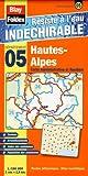echange, troc Blay-Foldex - Hautes-Alpes (05). Carte Départementale, Administrative et Routière (échelle : 1/180 000)
