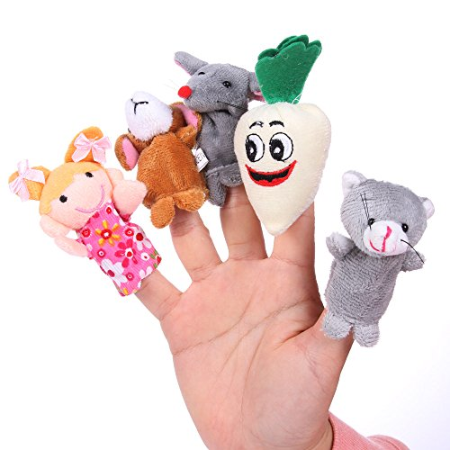"Foto4easy Bedtime Story ""The Enormous Turnip"" Toys Finger Puppets Nursery Teaching Aid (8 Pieces)"