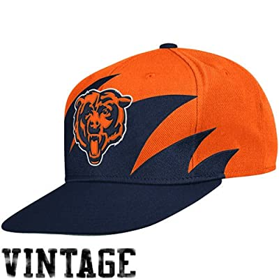 NFL Mitchell & Ness Chicago Bears Navy Blue-Orange NFL Sharktooth Snapback Adjustable Hat