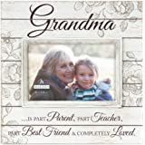 Malden Sun Washed Words Grandma Cream Distressed Picture Frame, 4 by 6-Inch