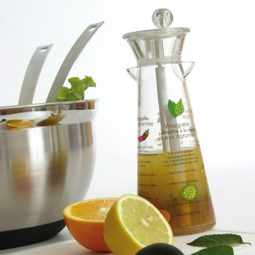 Mastrad F27030 Mélangeur à vinaigrette avec recettes en francais