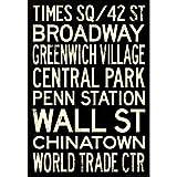(13x19) New York City Subway Style Vintage RetroMetro Travel Poster