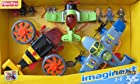 Imaginext RACING AIRPLANE Set of 3 PLANES w 3 FIGURES & Spinning PROPELLERS (2012 Fisher Price)