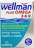 Vitabiotics Wellman Plus Omega 3/ 6/ 9 - 28 Tablets/ 28 Capsules