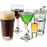 Libbey Entertainment Party Glass, 18-Piece, Clear