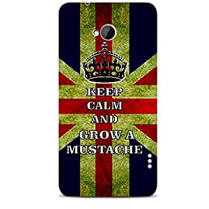 Skin4gadgets Keep Calm and GROW A MUSTACHE - Colour - UK Flag Phone Skin for HTC ONE MAX