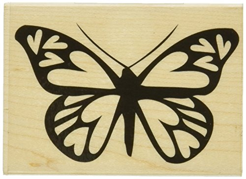 "Hero Arts Mounted Rubber Stamps 4""X1""-Heart Winged Butterfly Mounted Stamp - 1"