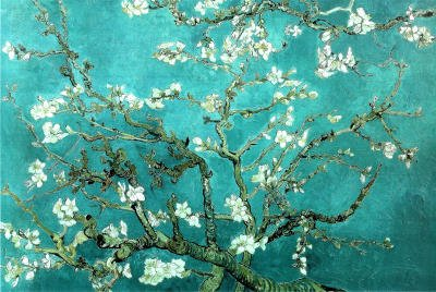 Vincent Van Gogh Turquoise Almond Branches in Bloom, San Remy Art Poster Print - 61x91 cm