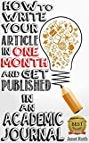 How to Write Your Article in One Month and get Published in an Academic Journal