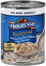 Progresso 99 Fat Free New England Clam Chowder 19-Ounce Pack of 12