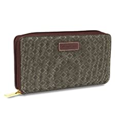Hartmann Wings Diamond Zip Wallet
