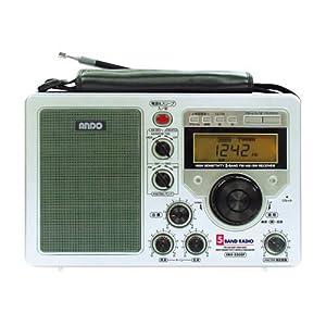 【クリックで詳細表示】アンドー ファイブバンドラジオ AM/FM/SWando ER4-330SP: 家電・カメラ