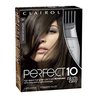 Best Cheap Deal for Clairol Perfect 10 By Nice 'N Easy Hair Color 005a Medium Ash Brown 1 Kit, 1.000-Kit (Pack of 2) from P&G - Free 2 Day Shipping Available