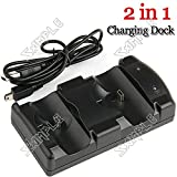 ( LittleSomething ) 2-in-1 Charging Dock Station Double Dock Charger Stand with USB Cable for Sony PlayStation3 PS3 Move & PS3 Controllers ---------- Video Games