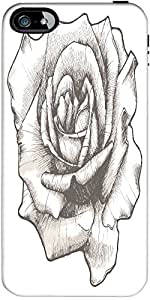 Snoogg hand drawn rose vector illustration Hard Back Case Cover Shield ForApple Iphone 5 / 5s