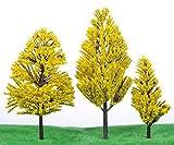 Shop XJ ジオラマ 模型 森 木 材料 サイズ 豊富 10本 セット 黄色 (8cm)