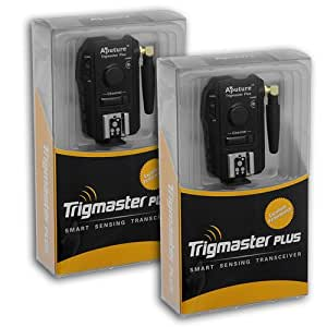 Aputure Trigmaster Plus Kit (2x Transceivers) for Nikon, 2.4GHz Radio Remote Flash Trigger and Shutter Cable Release, for Nikon Digital SLRs D200, D300s, D300, D700, D800, D800e, D90, D3100, D3200, D5000, D5100, D5200, D7000,and SB-600, 700, 800, 900, 910