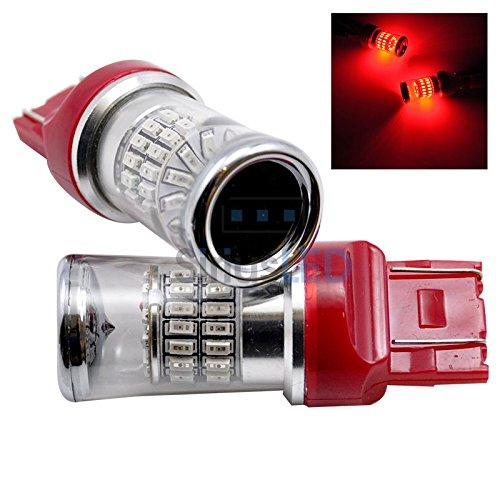 2 Super Red 7443 7444 48X Smd Led Dual Filament Tail Brake Turn Signal Light T20 7443 Reflector 992 W21W