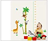Asmi collection PVC Wall Stickers Wall Decals Height Tree Giraffe Monkey