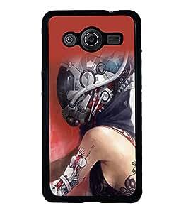 printtech Robot Girl Bike Technology Back Case Cover for Samsung Galaxy Core Prime G360