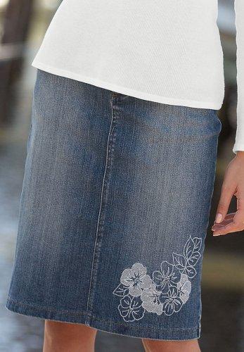 Embellished Denim Skirt - Buy Embellished Denim Skirt - Purchase Embellished Denim Skirt (Chadwicks, Chadwicks Skirts, Chadwicks Womens Skirts, Apparel, Departments, Women, Skirts, Womens Skirts, Wrap, Wrap Skirts, Womens Wrap Skirts)