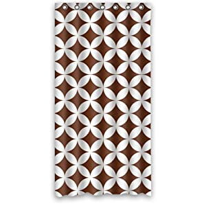 Classic brown white overlapping geometric circles seamless pattern