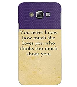 PrintDhaba Quote D-2645 Back Case Cover for SAMSUNG GALAXY A7 (Multi-Coloured)