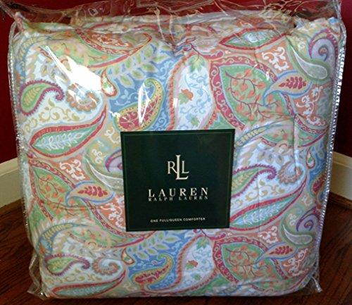 Ralph Lauren Candace Paisley Pink Blue Green White Queen