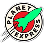 Futurama Planet Express Vynil Car Sti...