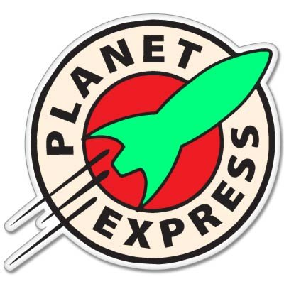 Futurama Planet Express Vynil Car Sticker Decal - Select Size
