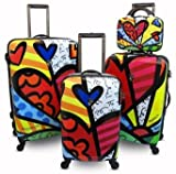 Romero Britto Britto Heys 4 Piece Luggage Set
