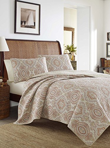 Tommy Bahama Turtle Cove Mango Quilt Set King Home Garden